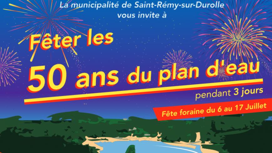 Saint-Rémy-sur-Durolle : Célébration des 50 ans du Plan d'Eau