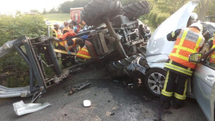 Puy-de-Dôme : un choc entre une voiture et un tracteur