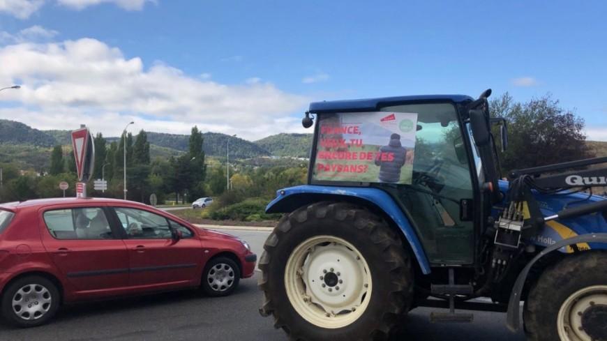 Manifestation des agriculteurs à Clermont-Ferrand