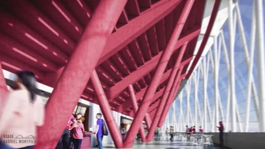 Le futur stade Gabriel-Montpied à Clermont-Ferrand