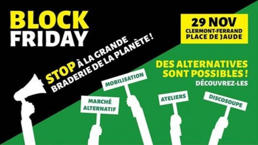 Le Block Friday : Le centre Jaude de Clermont-Ferrand bloqué
