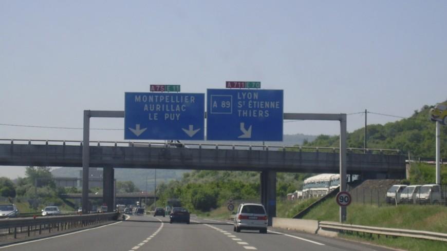 Travaux nocturnes au sud de Clermont-Ferrand