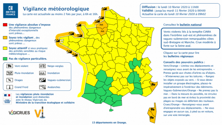 Tempête Ciara : 4 000 foyers sans électricité en Auvergne