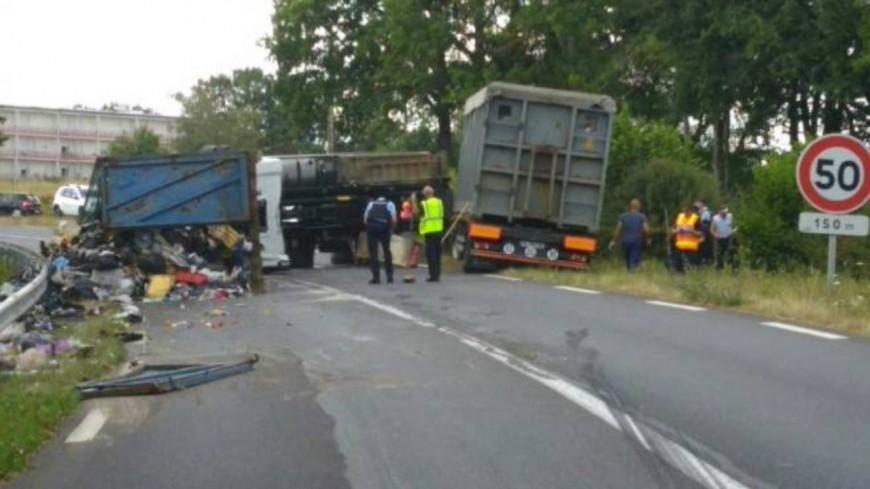 Saint-Jean-d'Heurs (Puy-de-Dôme) : la remorque d'un camion provoque un accident