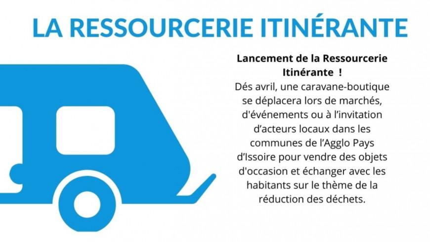 La caravane-boutique de la ressourcerie débarque à Issoire