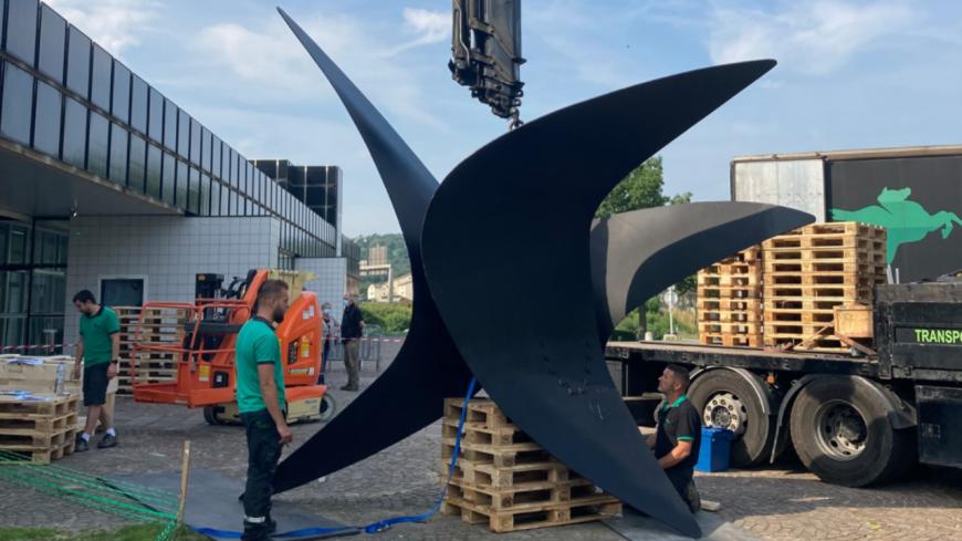 """Saint-Etienne :  où a été déplacé la sculpture des """"Trois Ailes"""" ?"""