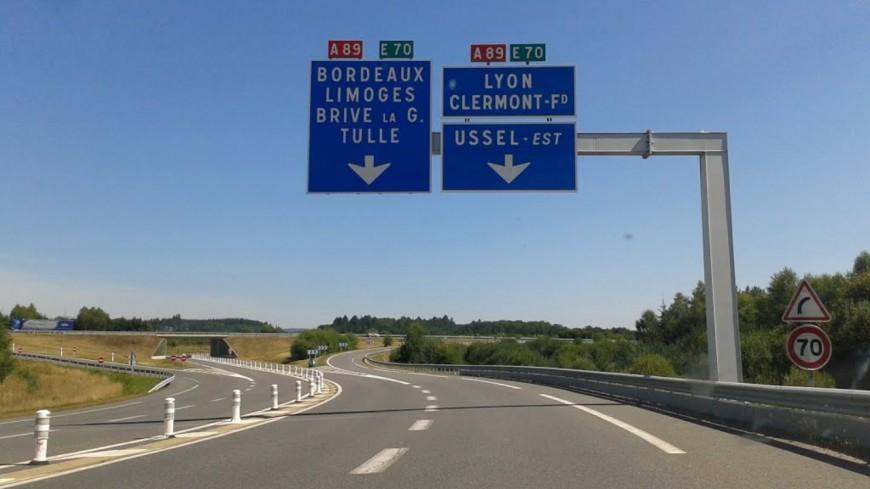 L'autoroute A89 en travaux jusqu'au mois de novembre