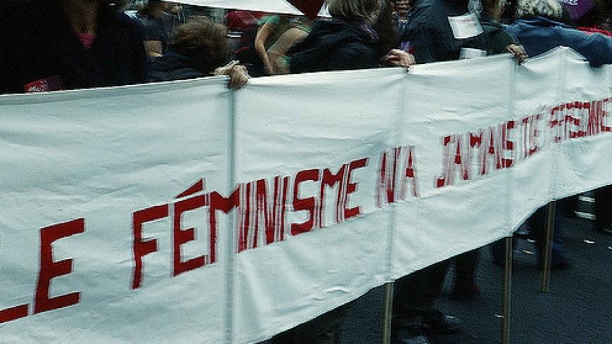 Manifestation contre les violences faites aux femmes à Clermont-Ferrand.