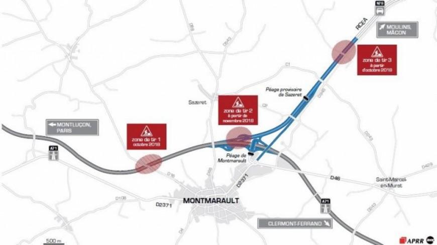 Montmarault : des tirs de mines entre l'A71 et la RCEA