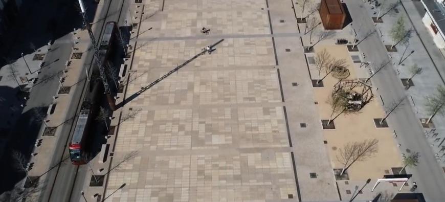 Clermont-Ferrand désertée : des images impressionnantes filmées par un drone
